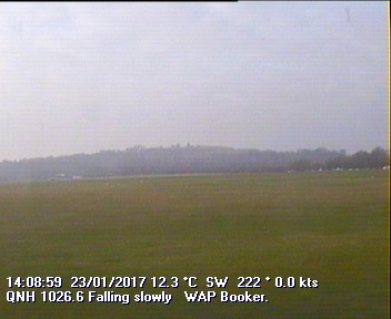 Current webcam view of Wycombe Air Park runway (EGTB / Booker)